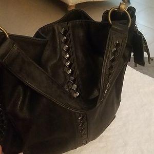 Carlos Santana Black Handbag